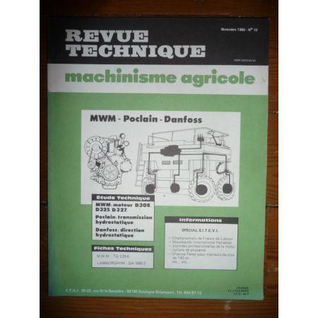 D308 D325 D327 Revue Technique Agricole Mwm
