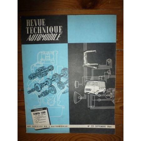 1500 64-65 Revue Technique Simca Talbot