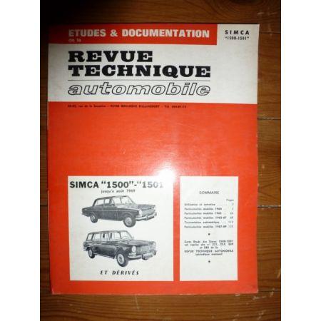 1500 1501 -69 Revue Technique Simca Talbot