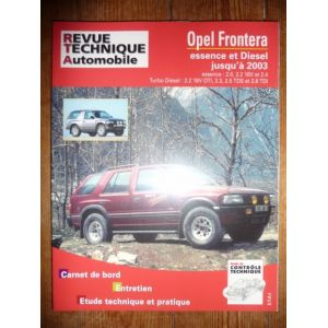 rta revue technique opel frontera essence et diesel jusqu 39 2003. Black Bedroom Furniture Sets. Home Design Ideas