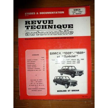 1301 1501 Spécial Revue Technique Simca Talbot