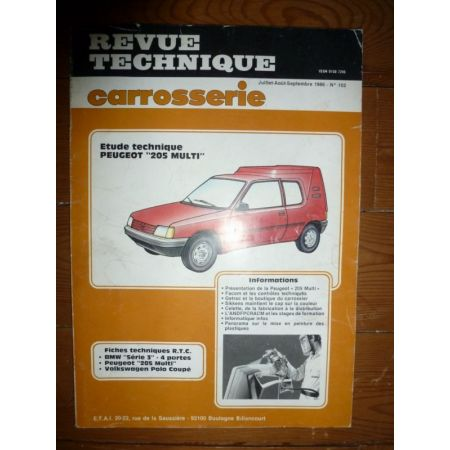 205 Multi Revue Technique Carrosserie Peugeot