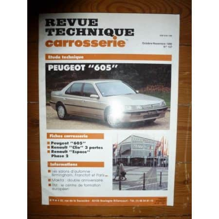 605 Revue Technique Carrosserie Peugeot