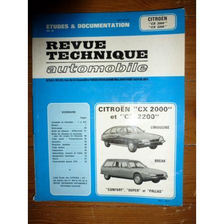 CX 2000 2200 Revue Technique Citroen