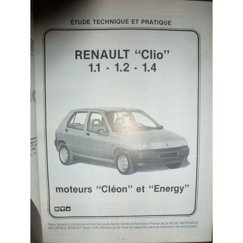 renault clio 1 1 1 2 1 4 essence moteurs cleon et energy. Black Bedroom Furniture Sets. Home Design Ideas