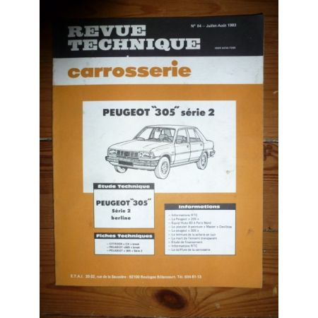 305 S2 Revue Technique Carrosserie Peugeot