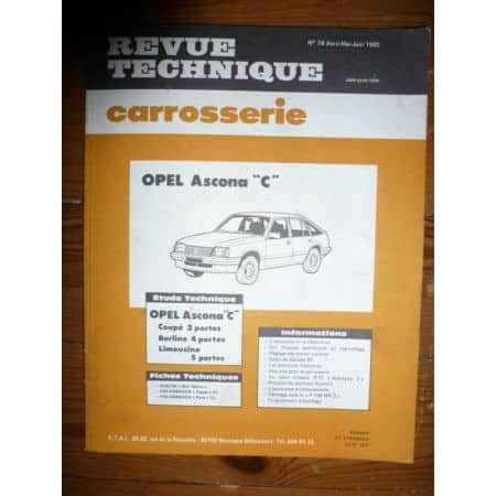 Ascona C Revue Technique Carrosserie Opel