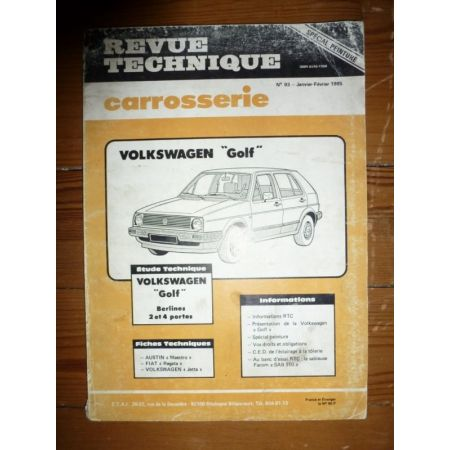 Golf Revue Technique Carrosserie Volkswagen