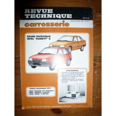 Kadett E Revue Technique Carrosserie Opel