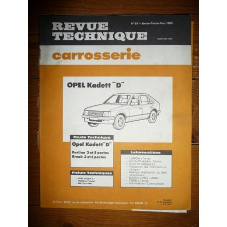 Kadett D Revue Technique Carrosserie Opel