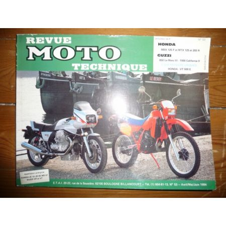 MBX125 MTX125 200 Le Mans California 3 Revue Technique moto Honda Fuzzi