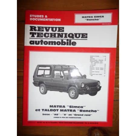 Rancho Revue Technique Matra Simca Talbot
