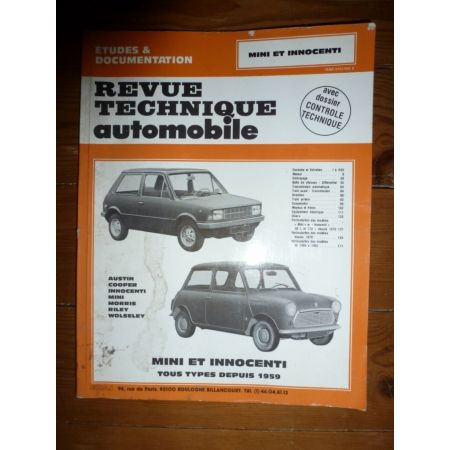 MINI Revue Technique Austin Mini Mg British Leyland