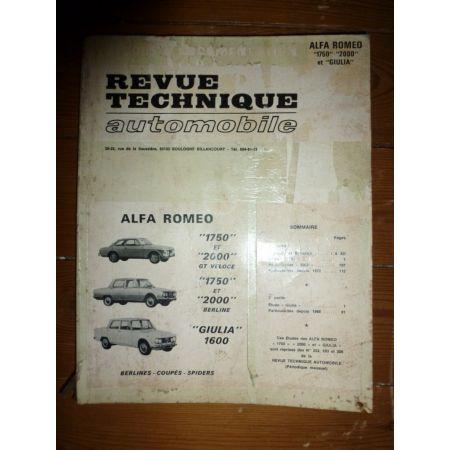 1750 2000 Giulia Revue Technique Alfa Romeo