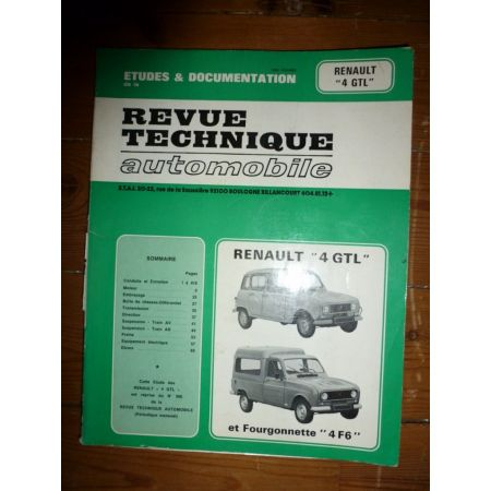 R4 TL GTL Revue Technique Renault