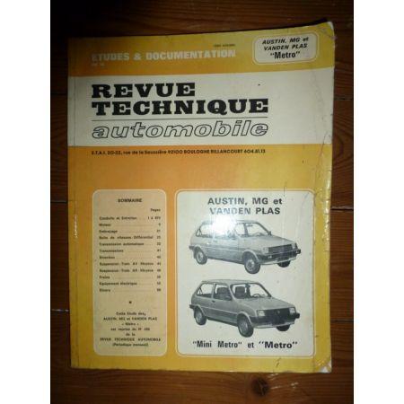 Metro Revue Technique Austin Mini Mg British Leyland
