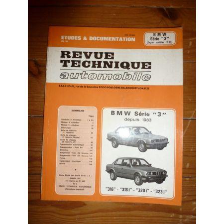 BMW Série 3 depuis 1983 jusqu'à 1991 4 et 6 cylindres RRTA0448.1 revue technique