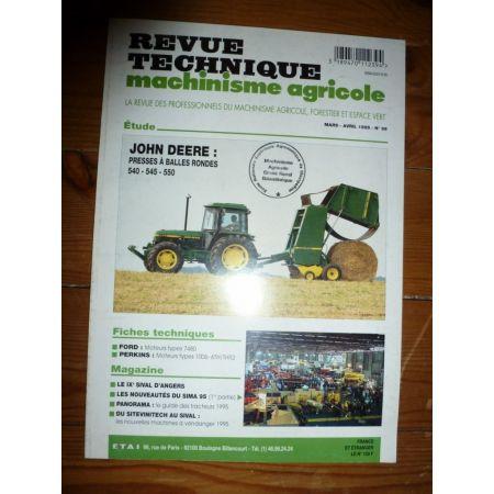 540 545 550 Revue Technique Agricole John Deere