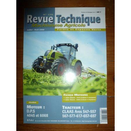ARES 547 à 697 Revue Technique Agricole Claas