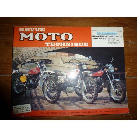 P6CS 400 500 XT SR Revue Technique moto Minarelli Yamaha