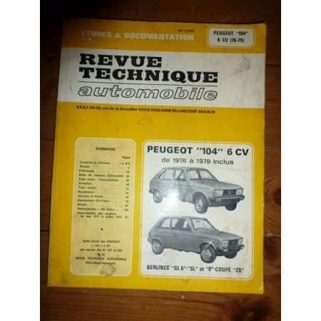 104 6CV Revue Technique Peugeot