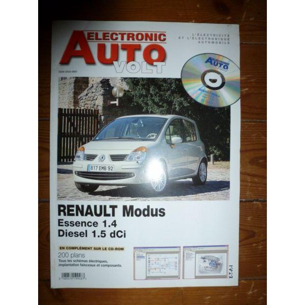 Modus 1.4-1.5 Revue Technique Electronic Auto Volt Renault