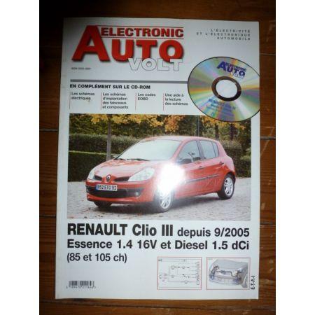 Clio III 05- Revue Technique Electronic Auto Volt Renault