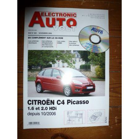 C4 Picasso 06- Revue Technique Electronic Auto Volt Citroen