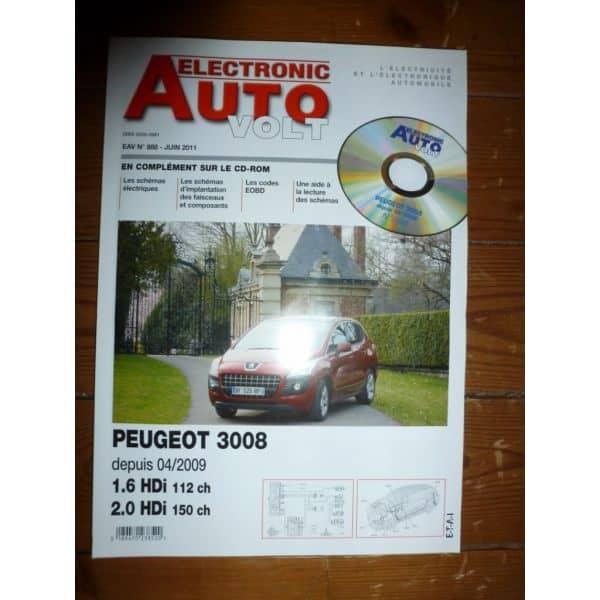 3008 09- Revue Technique Electronic Auto Volt Peugeot