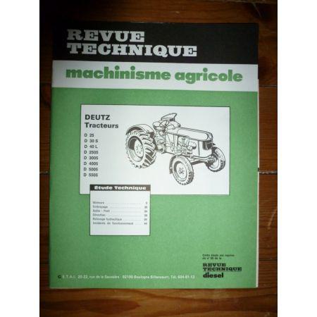 D25 à D5505 Revue Technique Agricole Deutz