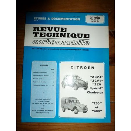 2CV 4 6 Revue Technique Citroen