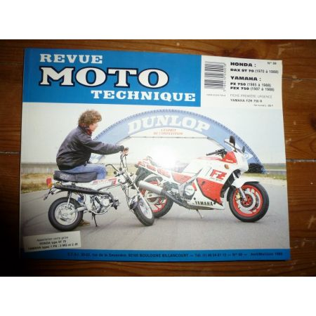 DAX ST70 FZ750 Revue Technique moto Honda Yamaha
