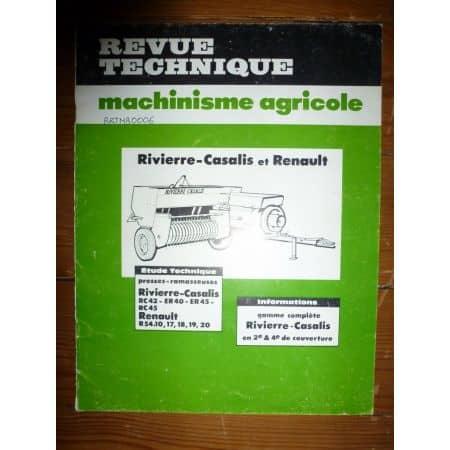 RC42 ER40 ER45 RC45 R54 Revue Technique Agricole Renault