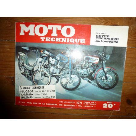 101 102 125 T6 Revue Technique moto Peugeot Triumph Yamaha
