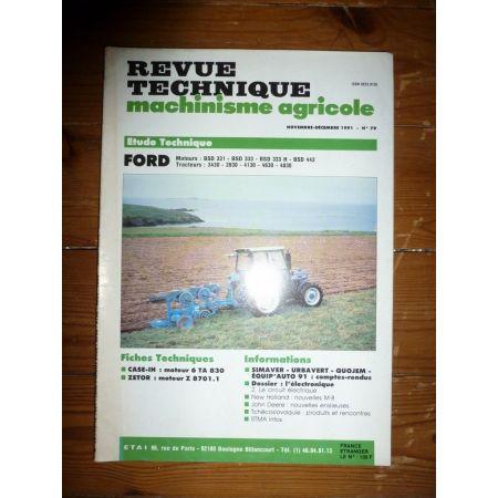 3430 3930 4130 4630 4830 Revue Technique Agricole Ford