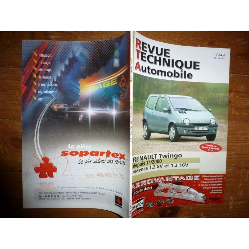 rta revues techniques renault twingo essence 1 2 8v 16v depuis 11 2000. Black Bedroom Furniture Sets. Home Design Ideas