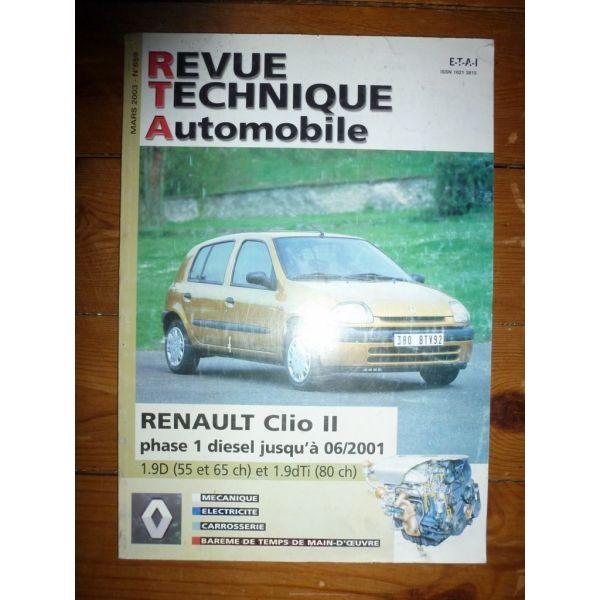 renault clio ii phase i diesel jusqu 39 06 2001 1 9d 55cv et 65cv et 80cv. Black Bedroom Furniture Sets. Home Design Ideas