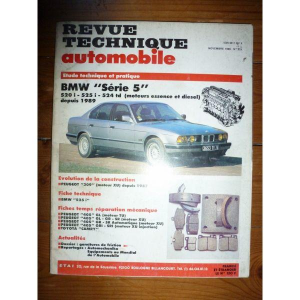 RTA Revues techniques BMW SERIE 5 520i - 525i - 524td Essence et Diesel depuis 1989