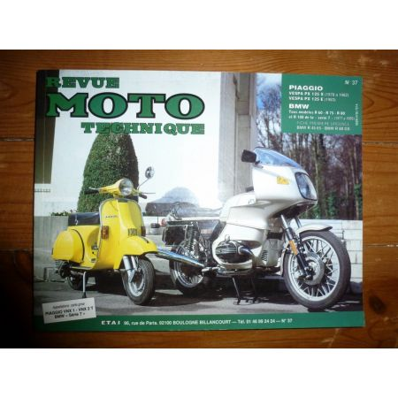 R60 R75 R80 PX125 Revue Technique moto Bmw Piaggio Vespa