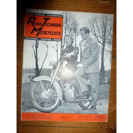 500 TWIN 125 Revue Technique moto Ajs Peugeot