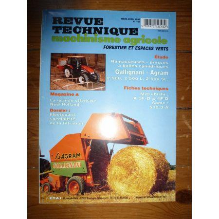 2500 2500L 2500SL Revue Technique Agricole Agram Gallignani