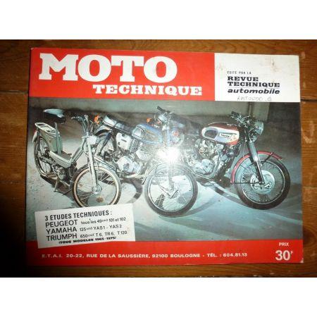 101 102 125 650 Revue Technique moto Peugeot Triumph Yamaha