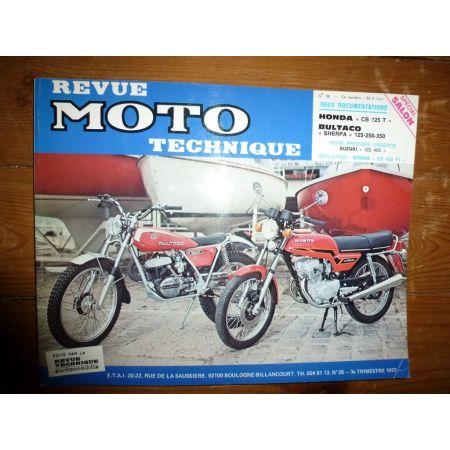 CB125T SHERPA Revue Technique moto Bultaco Honda