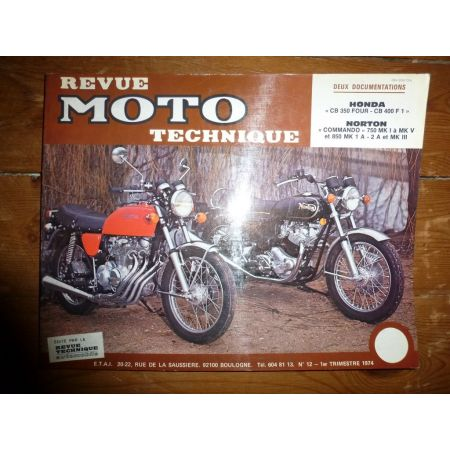 Commando CB350 Four Revue Technique moto Honda Norton