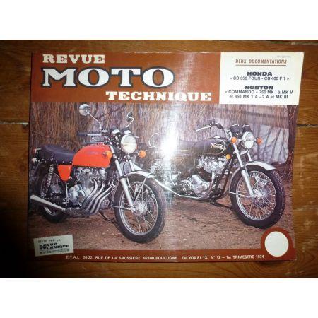 Commando CB350 Four Revue Technique moto Honda Norton