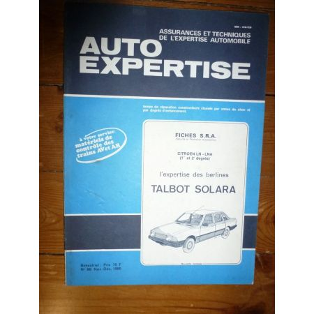 Solara Revue Auto Expertise Talbot Simca