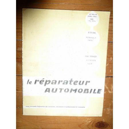 Renault 1970 Revue Reparateur Automobile