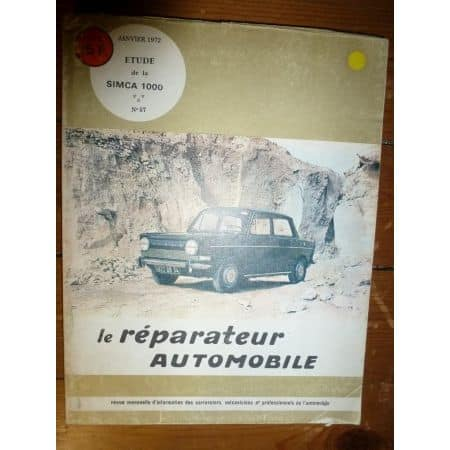 Simca 1000 Revue Reparateur Automobile