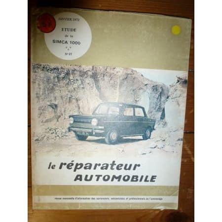 Simca 1000 Revue Reparateur Automobile