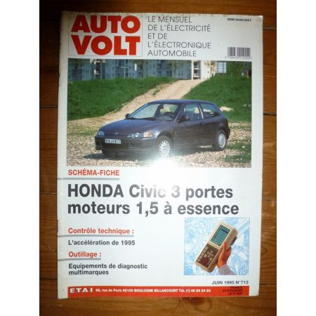Civic 1.5 Ess Revue Technique Electronic Auto Volt Honda